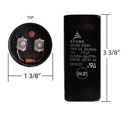 WEG 145-175 MFD 250 Volt Motor Start Capacitor