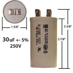 WEG 30 MFD 250 VAC Motor Run Capacitor