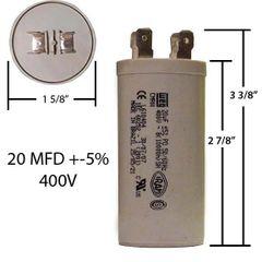 WEG 20 MFD 400 VAC Motor Run Capacitor