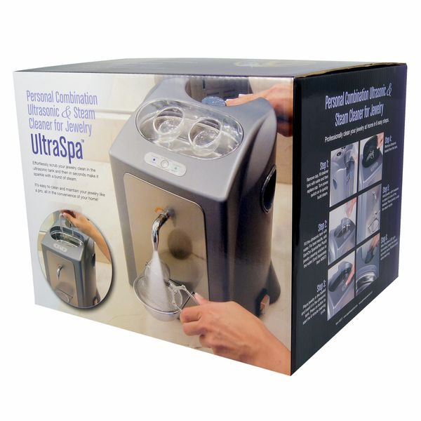 UltraSpa PROFESSIONAL JEWELRY CLEANING SYSTEM - Ultrasonic and Steam Cleaner in One