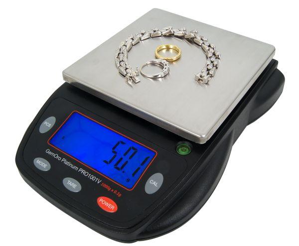 Gemoro Platinum® PRO1001V Precision Scale, 1000g x 0.1g