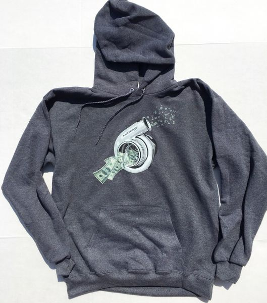 Blowin Money Hoodie- GRAY