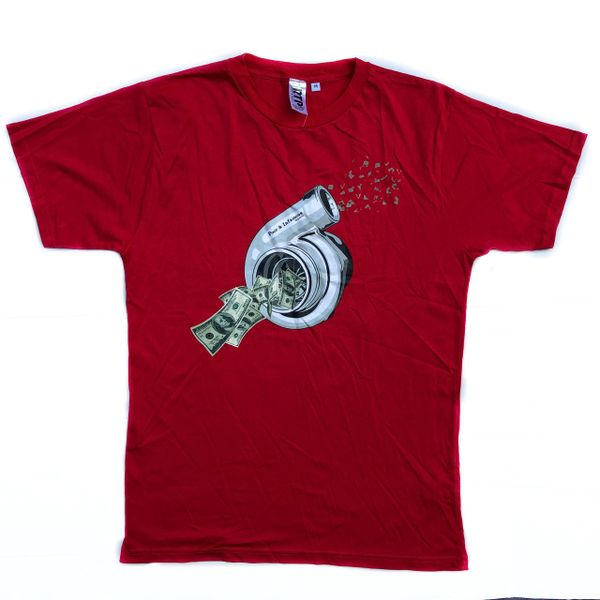 Blowin Money Tee- Red