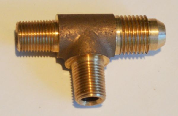 645-2 Tee - Form 2 (2 NPT and 1 male flare)