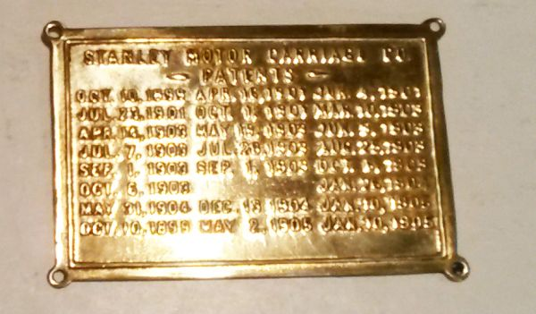 275 Stanley Patent Plate