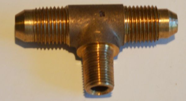 645-3 Tee - Form 3 (2 male flare and 1 NPT male)