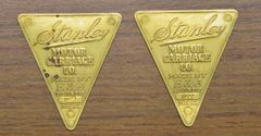 267 E&J Stanley Headlight Medallion, sold as pair