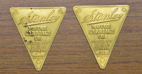 267 E&J Stanley Headlight Medallion, sold as pair