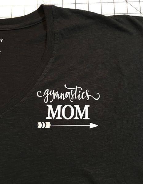 Gymnastics Mom Long Sleeve V-neck T-Shirt