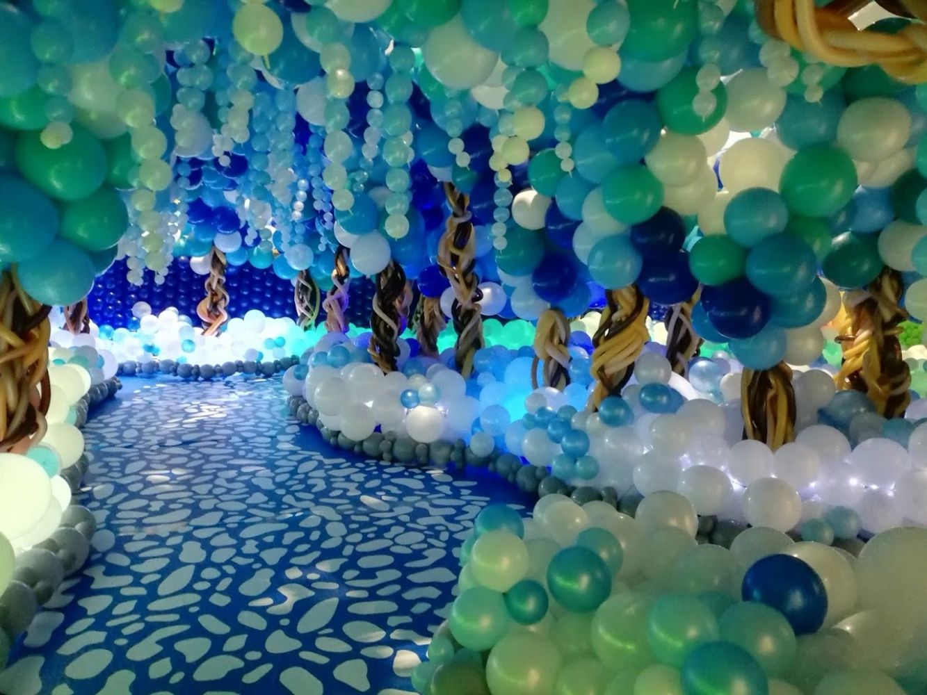 Magical Balloon Forest from the Big Balloon Build created using Air-filled Natural Latex Balloons