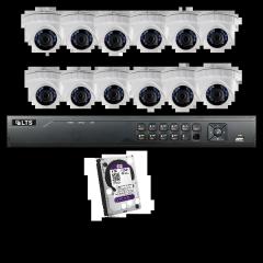 16 Channel 12 X 2.1 MP Camera Bundle 4TB HDD