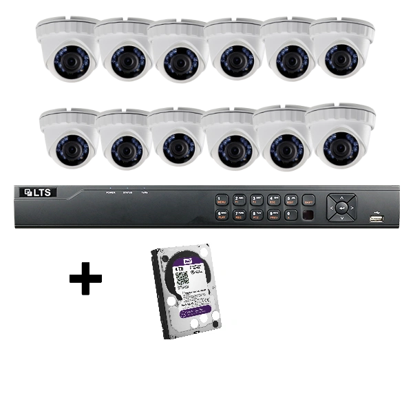 16 Channel 12 X 2.1 MP Camera Bundle 4TB HDD