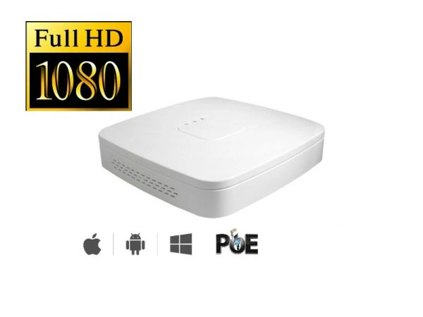 4 Channel PoE Network Video Recorder (Compact) NVR