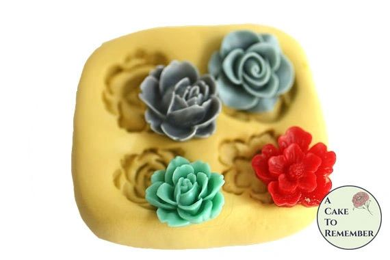 Silicone four flower mold M043