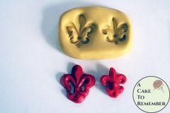 Fleur De Lis mold for polymer clay crafts and cake decorating M091