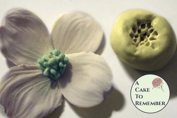 Silicone Mold for small dogwood flower center for gumpaste flowers M033