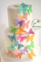 24 watercolor edible wafer paper butterflies
