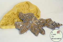 Sequin flower applique silicone elegant lace mold M5091