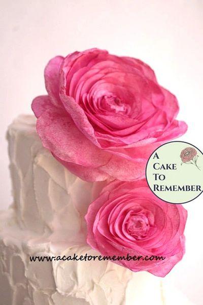 1 large wafer paper flower for cake decorating, wedding cake topper