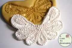 Beaded swag silicone lace mold for cake decorating, polymer clay. M048