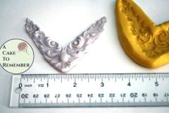 Corner Scrollwork Mold, swag mold for cake decorating M1110
