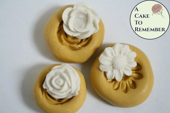 Three flowers silicone mold set for cake pops or soap embeds M5119