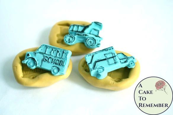Silicone truck silicone molds, ambulance, school bus and dump truck. M5096