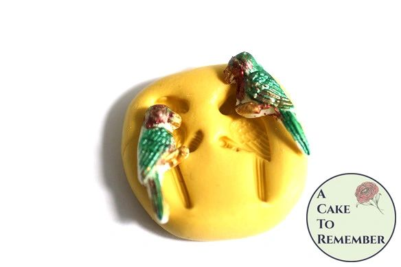 Little parrot silicone mold for cakes, resin, or soap embeds M5143