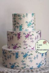 3 sheets of vining roses floral wafer paper for cakes.