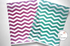 3 full sheets chevron pattern printed edible wafer paper for cakes