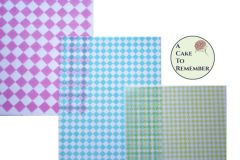 3 full sheets diamonds edible wafer paper for cake decorating