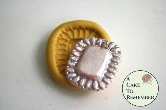 Rectangular silicone gem mold for isomalt M5052