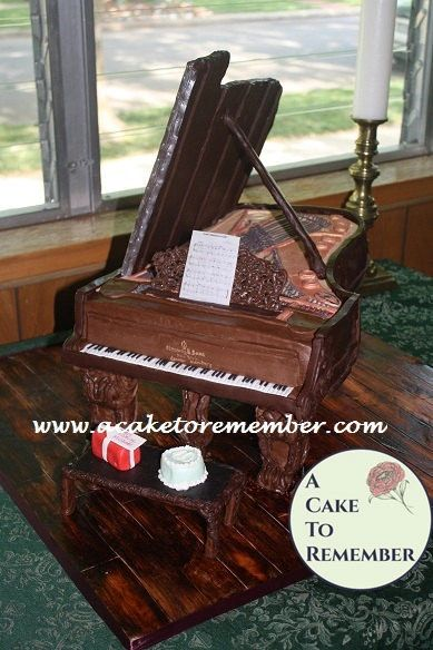 Grand Piano Cake Tutorial- PDF download