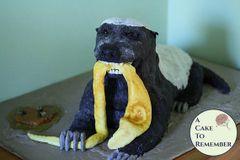 Honeybadger cake tutorial, 3-D animal cakes-PDF download