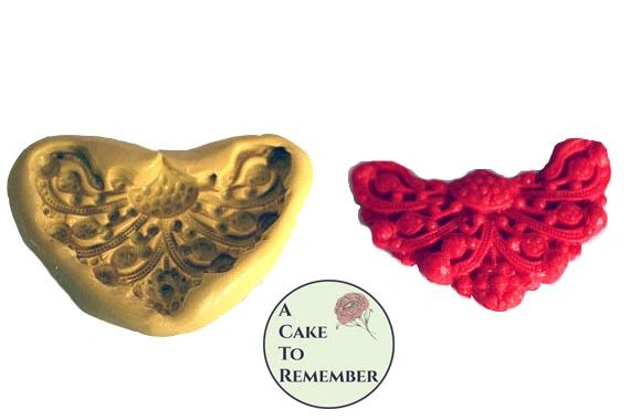 Jewel swag medallion silicone mold for cake decorating M015