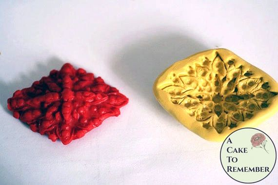 Jeweled diamond shaped silicone mold for cake decorating M007