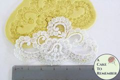 Large fondant lace silicone mold for cake decorating. M1013