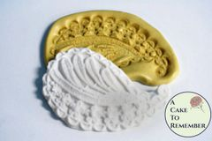 Leaf and flowers paisley silicone mold for cake decorating. M077