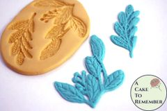 Leaf fondant lace silicone mold for cake decorating M1070