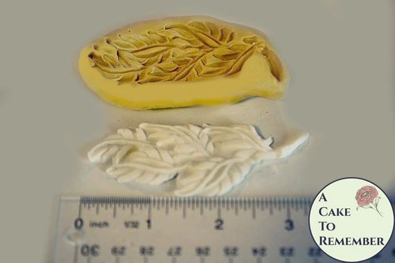 Leaves mold for cake decorating or polymer clay M1080