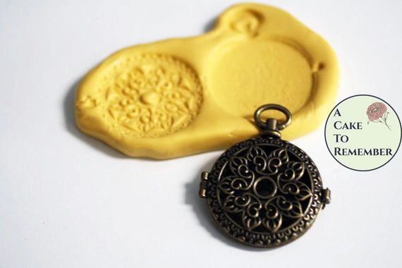Pocket Watch silicone mold for fondant M03