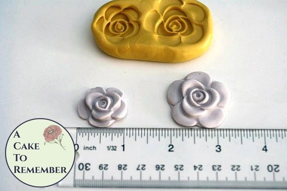 Rose mold set for cake decorating, cupcake decorating or cake pops M1108