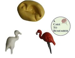 Set of 2 tiny flamingo silicone molds M5009