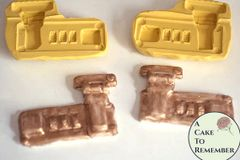 Set of two briefcase lock silicone molds for briefcase or luggage cakes M5062