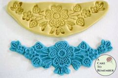 Silicone floral swag fondant lace mold M060