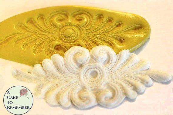 Silicone fondant lace medallion mold M061