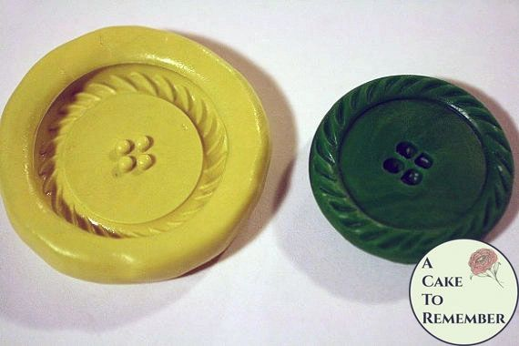 Large silicone button mold for cake decorating, M27