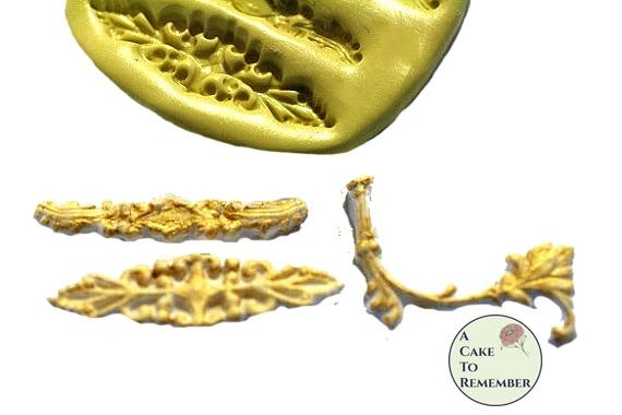 Flourishes silicone mold for resin or cakes M1044
