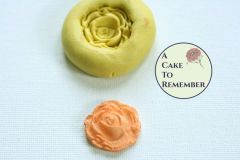 "1"" Silicone rose mini mold for cake decorating M040"