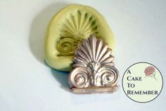 Small acanthus medallion mold for fondant or polymer clay M5002